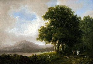 Skiddaw - Skiddaw from Derwentwater, by Richard Corbould (1757-1831)
