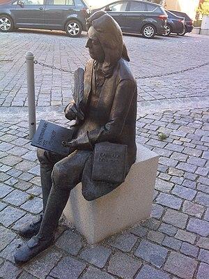 Christian Knorr von Rosenroth - Sculpture of Christian Knorr von Rosenroth in Sulzbach-Rosenberg, by Peter Kuschel