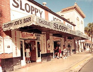 1933 in the United States - December 5, 1933: Sloppy Joe's Bar  opens in Key West, Florida (1986 photo)