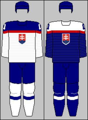 Slovakia men's national ice hockey team - Image: Slovak national team jerseys 2014