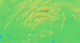 Location of the High Tatras in Slovakia and Poland
