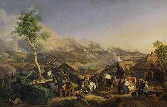 Battle of Smolensk (1812) - Image: Smolensk by hess