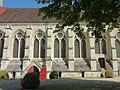 Soissons (02), abbaye Saint-Jean-des-Vignes, réfectoire, vue partielle depuis l'ouest 1.jpg