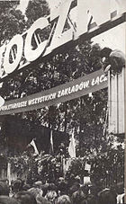 Solidarity August 1980 gate of Gdańsk Shipyard