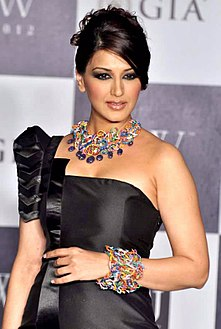 Sonali Bendre on the sets of India's Got Talent in August 2011
