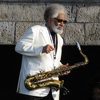 English: Sonny Rollins on the main stage at th...