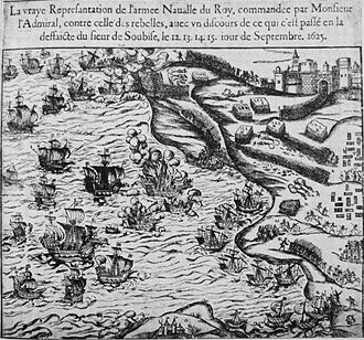 Recovery of Ré island - Image: Soubise 12 15 Septembre 1625