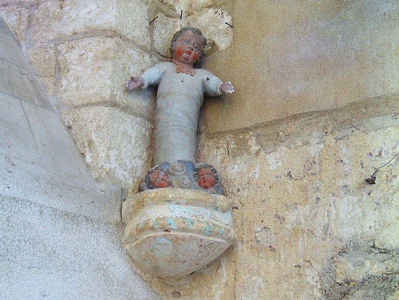 Église de Soudron (Marne, France) Statuette polychrome