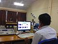 Sound recording in progress at Indian Institute of Mass Communication, Dhenkanal.JPG