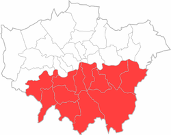 location of south london