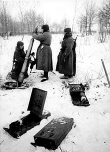 Soviet soldiers with 107 mm mortar defending Moscow.jpg