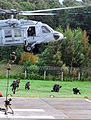 Special operations soldiers from Lithuania, Poland and the United States conduct fast-rope training from a U.S. Navy MH-60 Seahawk helicopter in Klaipėda, Lithuania, Sept 100917-A-GO571-104.jpg