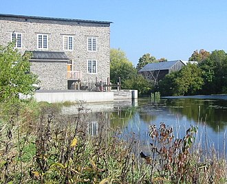 Spencerville, Ontario - The mill at Spencerville was long an economic backbone of the village, but these days it is a restored heritage landmark.