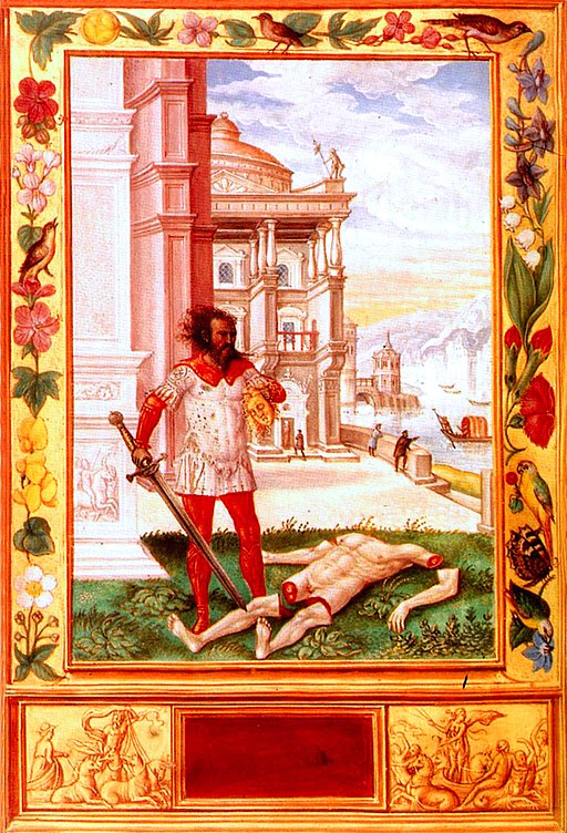 Splendor Solis 10 severing head of king