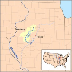 Spoon River - Map showing the Spoon River watershed