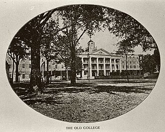 Spring Hill College - The original main building, built in 1831.