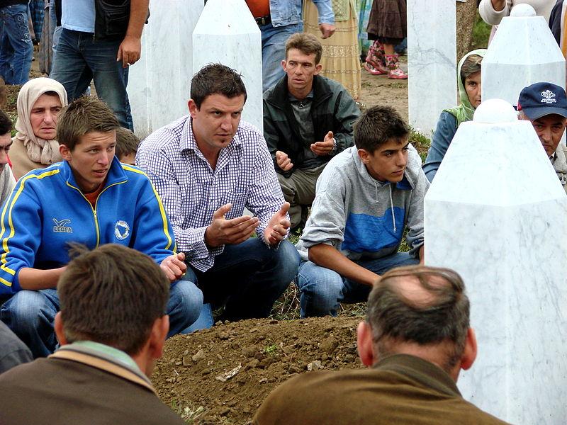 Srebrenica Massacre - Reinterment and Memorial Ceremony - July 2007 - Male Mourners.jpg