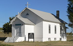 St. John's Evangelical Lutheran German Church and Cemetery - St. John's, seen from the southeast