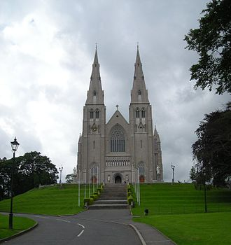 Christianity in Ireland - St Patrick's Cathedral, Armagh. Seat of the Archbishop of Armagh, Primate of All Ireland.