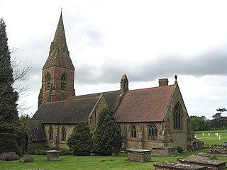 Hagley village in Worcestershire, England