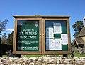 St Peter's Church, School Lane, Hascombe (April 2015) (Noticeboard).JPG