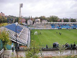 Stadionul Cotroceni - Image: Stadium Cotroceni Progresul Bucharest 1