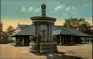 Stafford Springs, Connecticut - The Holt Memorial Fountain circa. 1910