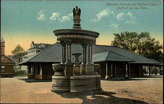 Stafford Springs, Connecticut - The Holt Memorial Fountain circa. 1910