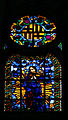 Stained glass window of Virgin Mary - Santa Maria del Mar - Barcelona 2014 (crop).JPG