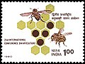 Stamp of India - 1980 - Colnect 145659 - Bees Apis sp with Honeycombs.jpeg