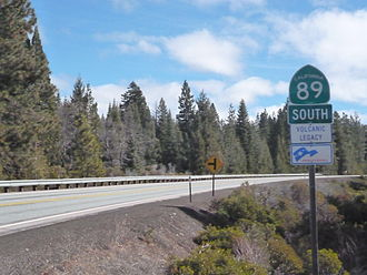 California State Route 89 - Start of California 89 at Mt. Shasta