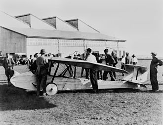 Lawrence Wackett - The Warbler at the Australian Aerial Derby, 1924.