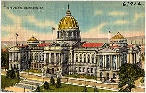 Joseph Miller Huston - Image: State Capitol, Harrisburg, PA (61912)