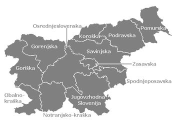 Statistical regions of Slovenia