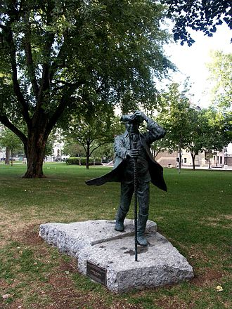 James McGill - Statue of James McGill on the university's downtown campus.