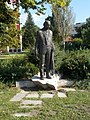 Statue of Gyula Illyes by Frigyes Janzer, Rakoczi Street, 2016 Szekszard.jpg