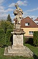 Statue of John of Nepomuk - Sosnová, Opava District, Czech Republic 06.jpg