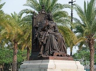 Victoria Park (Hong Kong) - Statue of Queen Victoria in Victoria Park