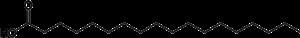 Tre esempi di acidi grassi: saturo (acido stearico, in alto) monoinsaturo (acido oleico, al centro) e polinsaturo (acido linoleico, in basso). Gli esempi riportati si differenziano solo per il numero di doppi legami e di atomi di idrogeno.