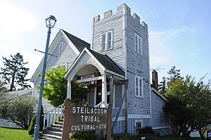 Steilacoom, Washington - Steilacoom Tribal Cultural Center and Museum, a former church on Lafayette Street.
