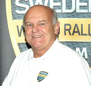 Stig Blomqvist rally driver, winner of the 1984 World Rally Championship for Drivers
