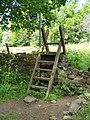 Stile near Olive Mill, Loxley - geograph.org.uk - 1025042.jpg