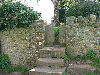 East Harptree - Stile in St Lawrence churchyard