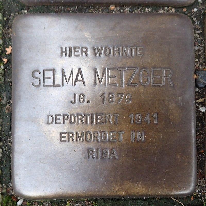 Stolperstein für Selma Metzger