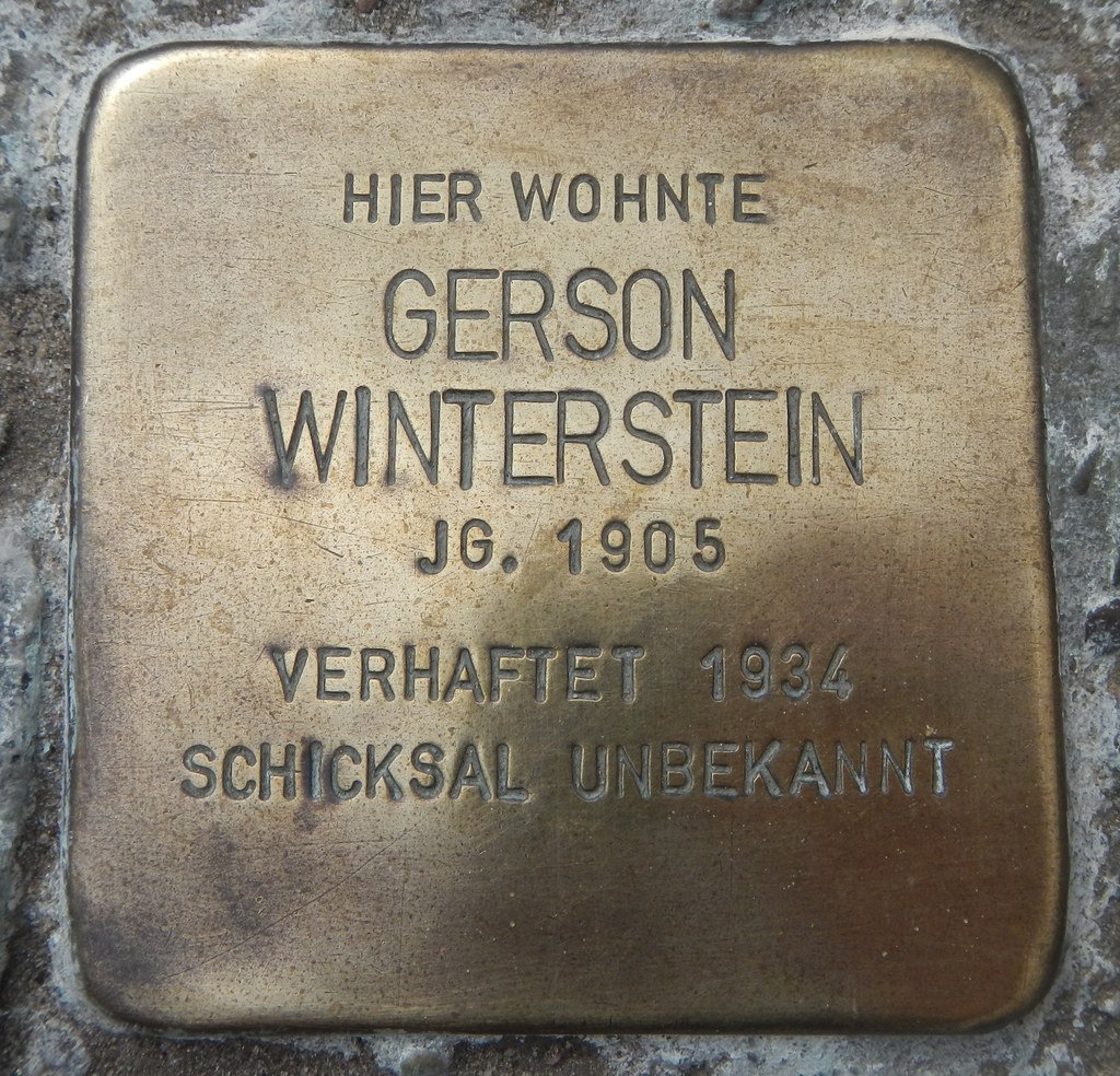 Stolperstein Gerson Winterstein