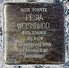Stolperstein Hirschberger Str 2 (Rumbg) Pesia Weissbrod.jpg