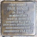 Stolperstein Kolonnenstr 46 (Schöb) Paul Hinze.jpg