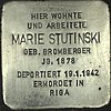 Stolperstein Kurstraße 22 Spandau Marie Stutinski 2012-10-23.jpg
