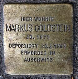 Photo of Markus Goldstein brass plaque