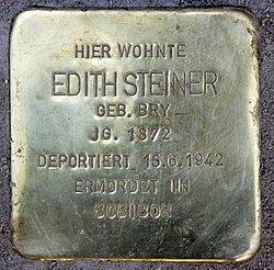 Photo of Edith Steiner brass plaque
